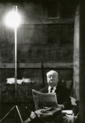 Alfred Hitchcock on the set of 'Marnie' at Universal Studios, Time Magazine, 1963, Silver Gelatin Photograph