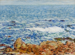 CHILDE HASSAM (1859–1935), Seascape: Appledore, Isles of Shoals, 1902. Oil on canvas, 14 1/4 x 19 1/2 in. (detail)