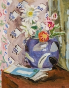 VANESSA BELL (1879–1961)  Still Life of Flowers, c. 1945. Oil on canvas, 20 x 16 in.