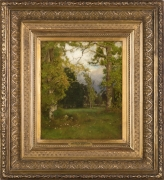 GEORGE INNESS (1825–1894). Late Afternoon, about 1882–86. Oil on canvas, laid down on millboard, 14 7/8 x 12 1/8 in.