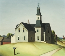 PAUL SAMPLE (1896–1974, Church in Evansville (Schoolhouse), 1934. Oil on canvas, 24 x 28 in.