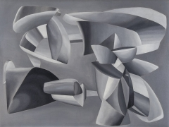 JOHN FERREN (1905–1970), Grey Scale Composition, 1937. Oil and sand on canvas, 35 x 45 5/8 in..
