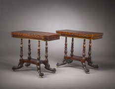 Pair Card Tables in the Neo-Classical Taste, about 1820