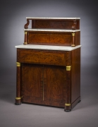 Butler's Desk and Etagére, about 1825. New York, possibly by Duncan Phyfe. Mahogany, with ormolu mounts, marble, and brass. 54 in. high, 36 5/8 in. wide, 23 5/8 in. deep