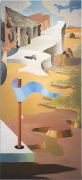 JAMES GUY (1909–1983), The Camouflage Man in a Landscape (A 6-panel Mural), 1939. Oil on Masonite, 83 x 216 in. Each panel, 83 x 36 in. Panel 6.