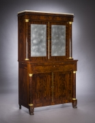 Cabinet with Mirrored Doors, about 1820. Attributed to Duncan Phyfe (1770–1854), New York. Mahogany, with ormolu capitals and bases, gilt-brass door moldings, keyhole liners, and knobs, marble, and mirror plate 78 5/8 in. high, 35 in. wide, 22 in. deep (overall)