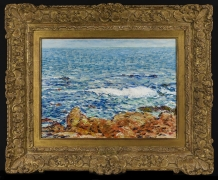 CHILDE HASSAM (1859–1935), Seascape: Appledore, Isles of Shoals, 1902. Oil on canvas, 14 1/4 x 19 1/2 in. (showing frame)