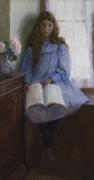 LILLA CABOT PERRY (1848–1933), Un Jour de Pluie, 1896. Oil on canvas, 55 x 29 3/4 in.