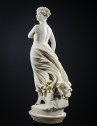 """THOMAS RIDGEWAY GOULD (1818–1881), """"The West Wind,"""" 1874. Marble, 48 in. high."""