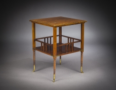 Tiered Square Table in the Aesthetic Taste, about 1880