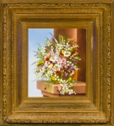 ADELHEID DIETRICH (1827–1891), Spring Bouquet, 1878. Oil on canvas, 13 1/2 x 11 1/2 in. Showing gilded frame.