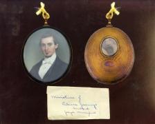 Portrait miniature of Joseph Merrefield (1820–1902) by John Henry Brown (1818–1891), a Philadelphia miniature painter