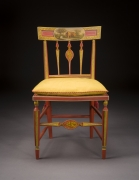 "Painted Chinese Red and Gilded ""Fancy"" Side Chair"