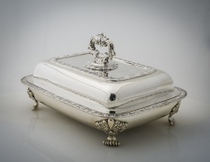 Covered Vegetable Dish with Paw Feet, about 1831–35