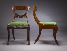 Set of Twelve Klismos-Form Dining Chairs, about 1815–20
