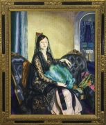 Image of George Wesley Bellows's Portrait of Elizabeth Alexander, oil on canvas, 53 x 43 inches, painted in 1924
