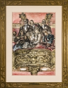 REGINALD MARSH (1898–1954)  Metropolitan Opera  Chinese ink and watercolor on paper, 22 3/4 x 15 3/4 in. With carved and gilded frame.