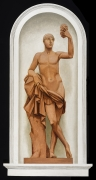 BERNARD BOUTET DE MONVEL (1881–1949), Four Trompe l'Oeil Paintings of Roman Deities for the Home of Mary Benjamin Rogers, Paris: Bacchus, 1928–29. Oil on canvas mounted on Masonite, 60 5/8 x 31 1/2 in.