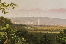 William MacLeod (1811–1892). View of the City of Washington From the Anacostia Shore, 1856. Oil on canvas, 37 x 53 in. (detail).
