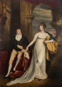 """JOHN SINGLETON COPLEY (1738–1815, """"Portrait of Mary Montagu and Her Brother, Robert Copley,"""" 1804. Oil on canvas, 102 x 74 in."""