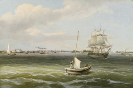 THOMAS BIRCH (1779–1851), View of Philadelphia Harbor, c. 1835–40. Oil on canvas, 20 x 30 1/4 in.