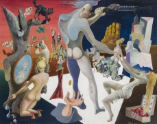James Guy (1909–1983), Capital Minus Labor, 1938. Oil on canvas board, 14 x 18 in.