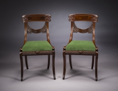 Set of Twelve Klismos-Form Dining Chairs,about 1815–20