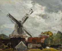 ROBERT HENRI (1865–1929) Windmill near Edam, 1907. Oil on wood panel, 8 x 10 in.