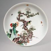 Chinese Famille  Verte Porcelain Plate