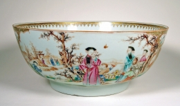 Rare Chinese Export Famille Rose Porcelain Bowl
