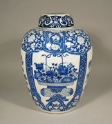 Blue and White Jar and Cover