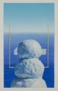 Snowman and Goalpost with Iceberg, 2018
