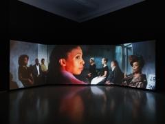 Catherine Sullivan, The Startled Faction (a sensitivity training), installation view, 2018.
