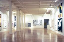 """Plato's Cave, Rothko's Chapel, Lincoln's Profile,"" installation view, 1986. Metro Pictures, New York."