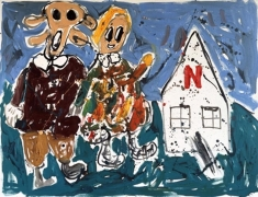 Untitled (mit N-Haus), 2007. Oil on canvas. MP 15