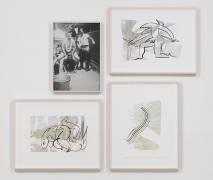 Tropics of Love, 2014, 3 drawings, Chinese ink on inkjet prints on paper, 1 inkjet print.
