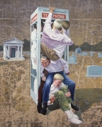 The Call, 2016. Acrylic on muslin, 48 x 32 inches (121.9 x 81.3 cm).
