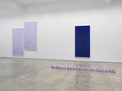Sara VanDerBeek's exhibition Pieced Quilts, Wrapped Forms