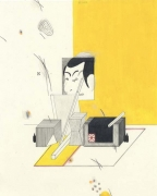 Yellow Room, 2003. Graphite, ball point pen and colored pencil on paper, 10 1/2 x 8 inches. MP D-87