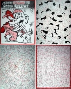 Dream Object (I was at Linda's and found), 1997. Colored pencil, ink on rag paper and vellum, 4 drawings, 12 x 9 inches each. MP D-169