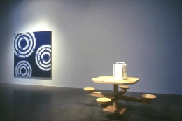 """""""Criminal Slang,"""" installation view, 2004. Metro Pictures, New York."""