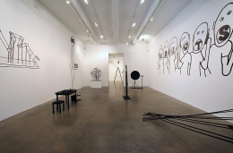 """""""Small Brain Big Stomach,"""" installation view, 2009. Metro Pictures, New York."""
