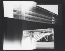 Recalling Frames, 2010. Black & white photograph, 42 1/2 x 53 1/2 inches (108 x 135.9 cm).,