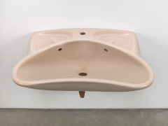 Plug, 2018. Ceramic sink, hand-rolled cigar,