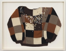 Sweater 1 (Chess player 1), 2010. Wool sweater, 35 x 45 x 3 3/4 inches (framed) (88.9 x 114.3 x 9.5 cm). MP 79