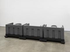 Untitled, 2018. HDPE, 47 1/4 x 129 3/4 x 28 3/4 inches (120 x 329.6 x 73 cm).