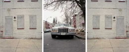 Baltimore Series (Street life/Still Life), 2003. Triptych of digital prints on Hahnemule Photorag 308gms paper