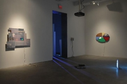 """""""Cell Phones Diagrams Cigarettes Searches and Scratch Cards,"""" installation view, 2009. Metro Pictures, New York."""