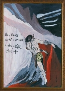 Only Gods could survive, 2006. Oil on board, 21.26 x 15.35 inches (54 x 39 cm). MP 4