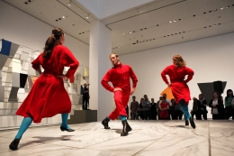 Alphabet, 2005/2012. Performance still, 2012. Museum of Modern Art, New York.